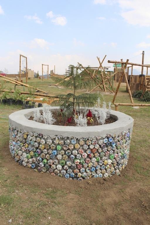 eco-brick-planter